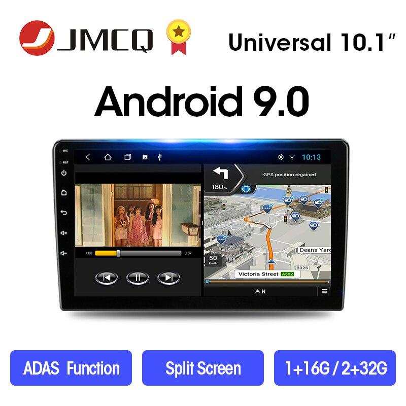 Jmcq 2 din android 8.1 2g + 32g 9/10.1 rádio do carro multimídia player de vídeo 2din navegação gps carro estéreo fm para nissan kia honda vw
