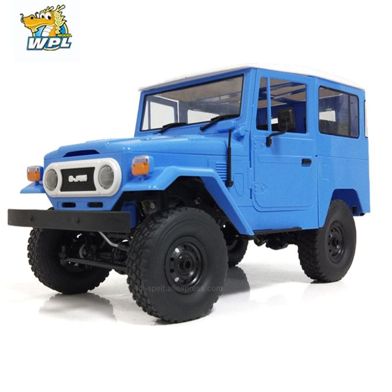 WPL-سيارة معدنية يتم التحكم فيها عن بعد للأطفال ، سيارة لعبة معدنية تعمل بالتحكم عن بعد C34 RTR 1/16 Toyota FJ40 4WD ، شاحنة تسلق على الطرق الوعرة ، ملحقات ...