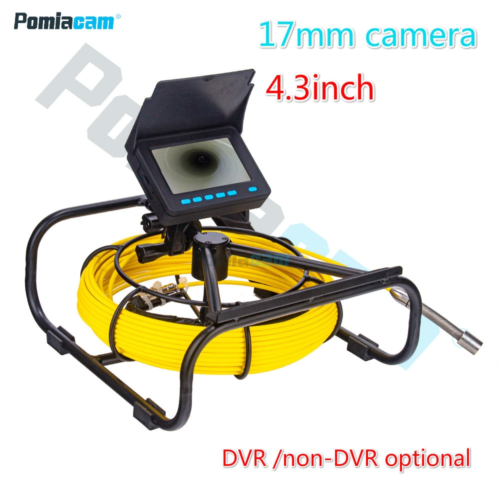 Get Mini Endoscope System 4.3inch Monitor 17mm Pipe Pipeline Drain Sewer Borescope Detection Camera Inspection  for Pipe Industrial