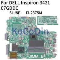 07GDDC Laptop motherboard Fur DELL Inspiron 14R 3421 5421 Core I3-2375M Mainboard 12204-1 DNE40-CR MB 5J8Y4 CN-07GDDC SLJ8E