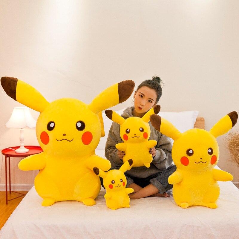 Pikachu de Anime de 120/60/20cm, muñecos de peluche de dibujos animados con relleno de animales, Go Pokemon, juguetes de peluche para niños, almohada decorativa, regalo de cumpleaños
