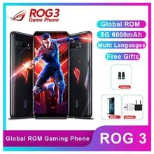 Téléphone Asus ROG 3 5G Snapdragon 865/865 Plus 12/16 go RAM 128/256G/512 go ROM NFC 6000mAh 144HZ FHD + téléphone de jeu ROG3 Smartphone