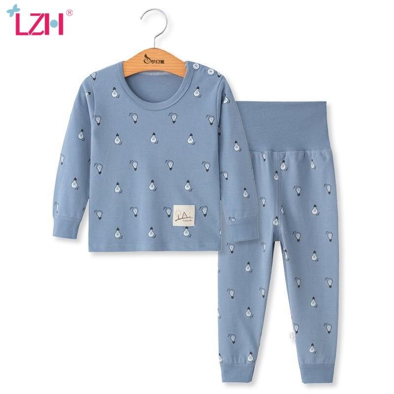 LZH/Детские пижамы детская одежда для сна с длинными рукавами и рисунком из 2 предметов Одежда для маленьких девочек костюмы для сна осенние хлопковые пижамы, ночная рубашка для мальчиков|Комплекты пижам| | АлиЭкспресс
