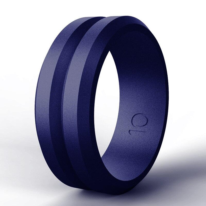 Anillos de Compromiso de silicona gris, verde y negro para hombre y mujer, anillos de boda, bandas de goma para dedo, anillos tallas 7 8 9 10 11 12 13 14