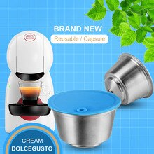 Icafilas-cápsula de café Dolce Gusto reutilizable, de acero inoxidable, Compatible con máquina Nescafé, gotero de filtro rellenable