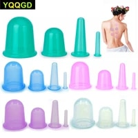 4pcsset health care massage cupping cup body anti cellulite silicone vacuum eye neck face back massager cupping cups