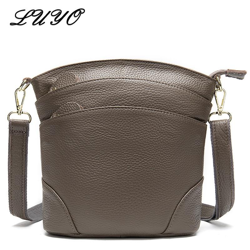 2020 Real Natural Cow Genuine Leather Messenger Bag Famous Brand Female Small Crossbody Shoulder Bags For Women Bolsa Feminina S