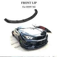 front bumper lip spoiler splitters for bmw f87 m2 2016 2017 2018 carbon fiber spoiler not for m2c competition