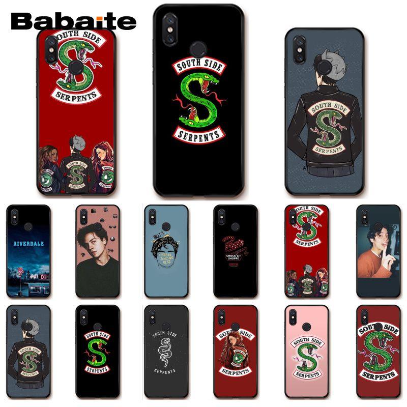 Babaite riverdale lado sul serpentes caso de telefone para xiaomi mi5 6 a1 a2 lite mi9 9se mi8lite 8 explorador pocofone f1