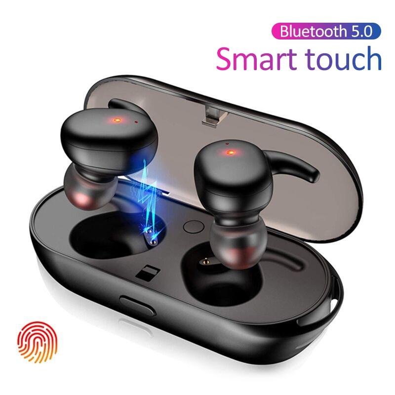 Y30 TWS inalámbrica Bluetooth 5,0 auriculares cancelación del ruido auriculares HiFi 3D estéreo en la oreja auriculares para Android IOS auricular