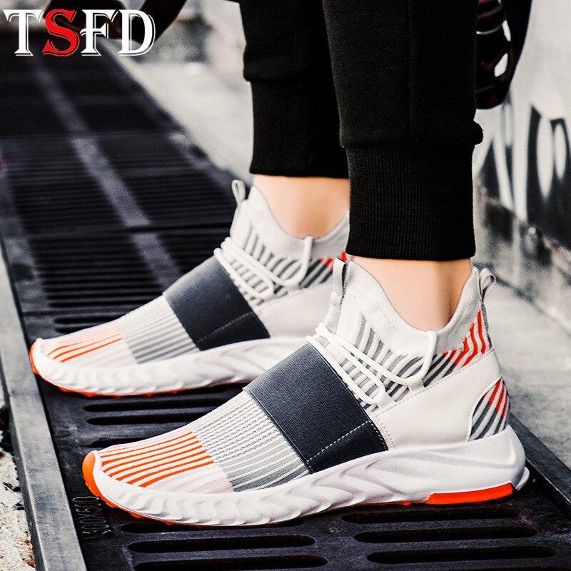Cómodas zapatillas deportivas para hombre, plataformas, zapatillas deportivas para hombre, zapatillas de correr para hombre, zapatillas deportivas blancas de malla 2020, zapatos para Jogging V21
