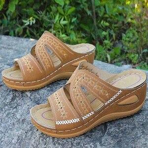 Kadın sandalet açık ayak yaz kadın Flats ayakkabı kadın hafif kadın takozlar sandalet bayanlar sandalet büyük boy Zapatos Mujer