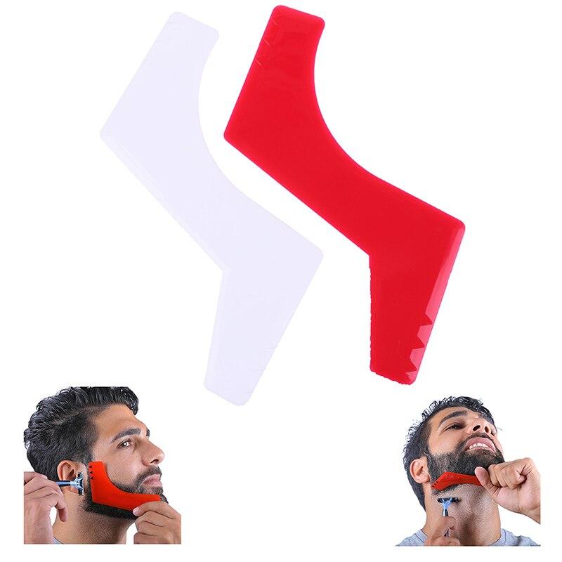 1 Uds barba Goatee peine para recortar corte de pelo herramienta plantilla para el pelo plantilla guía escote corte de pelo herramienta