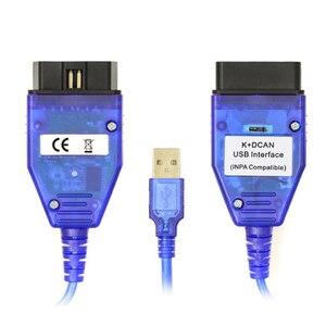 Image 2 - INPA K + CAN K + DCAN с переключателем, обнаружение ошибок автомобиля, диагностическая линия, скрытая щетка, подходит для BMW, интерфейс INPA EdiabasUSB
