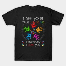 T-Shirt da Uomo Autismo Sostenitori Tee Autismo Mamma Papà Fighter Shirt (2) Tshirt Donna T Shirt