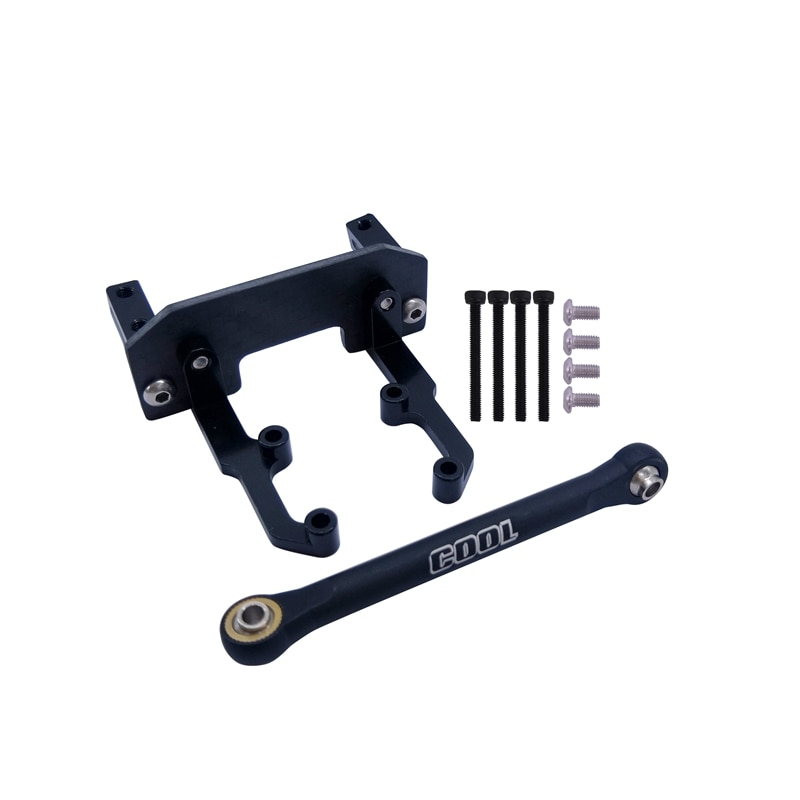 RC 1/10 TRUCK AXLE Aluminum Servo Mount + Carbon Holder + Steering Link for AXIAL SCX10 II AR44 90046 90047 90060 enlarge