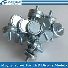 100 unids/lote M3 M4 cilindro imán para Módulo De Pantalla LED