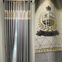 simple nordic style full blackout curtains stitching jacquard imitation cashmere living room balcony bedroom curtains