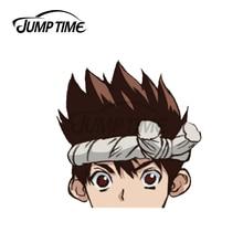 Jump Time 13 x 8.1cm For Chrome Anime Peeker Car Sticker Decal Vinyl JDM Import Drift Car Stickers W