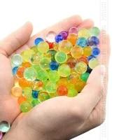 5000 pieces Orbiz 6mm cristal sol Hydrogel polymere fleur mariage perles deau polymere croissant decor boules deau grande decoration de la maison