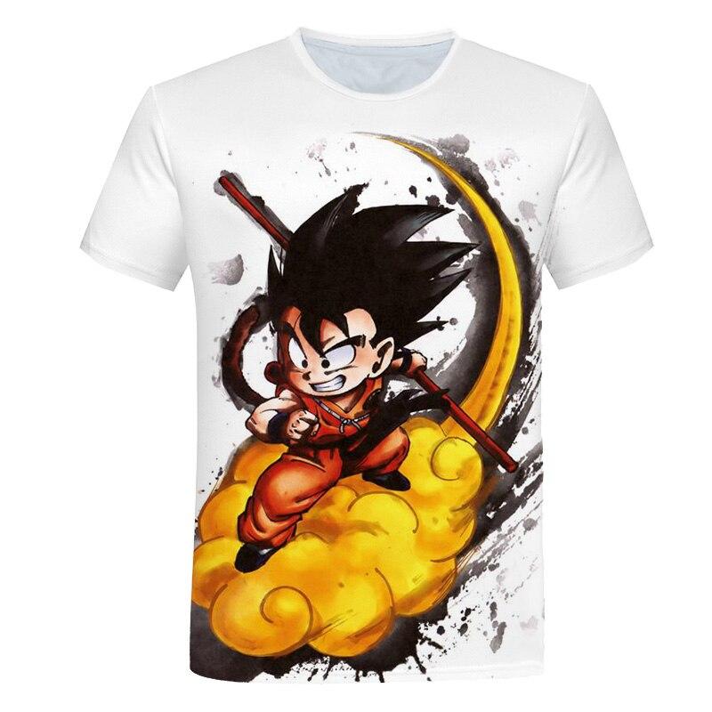 2021 New Dragon Theme Top Fashion Cartoon Anime ball Z Cool Boy's T-shirt Male Anime Movie 3D T Shir