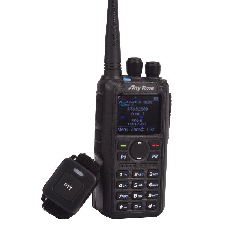 ham radio Anytone AT-D878UV Plus digital DMR & Analog UHF/VHF Dual band Bluetooth PTT walkie talkie GPS APRS Radio with PC cable