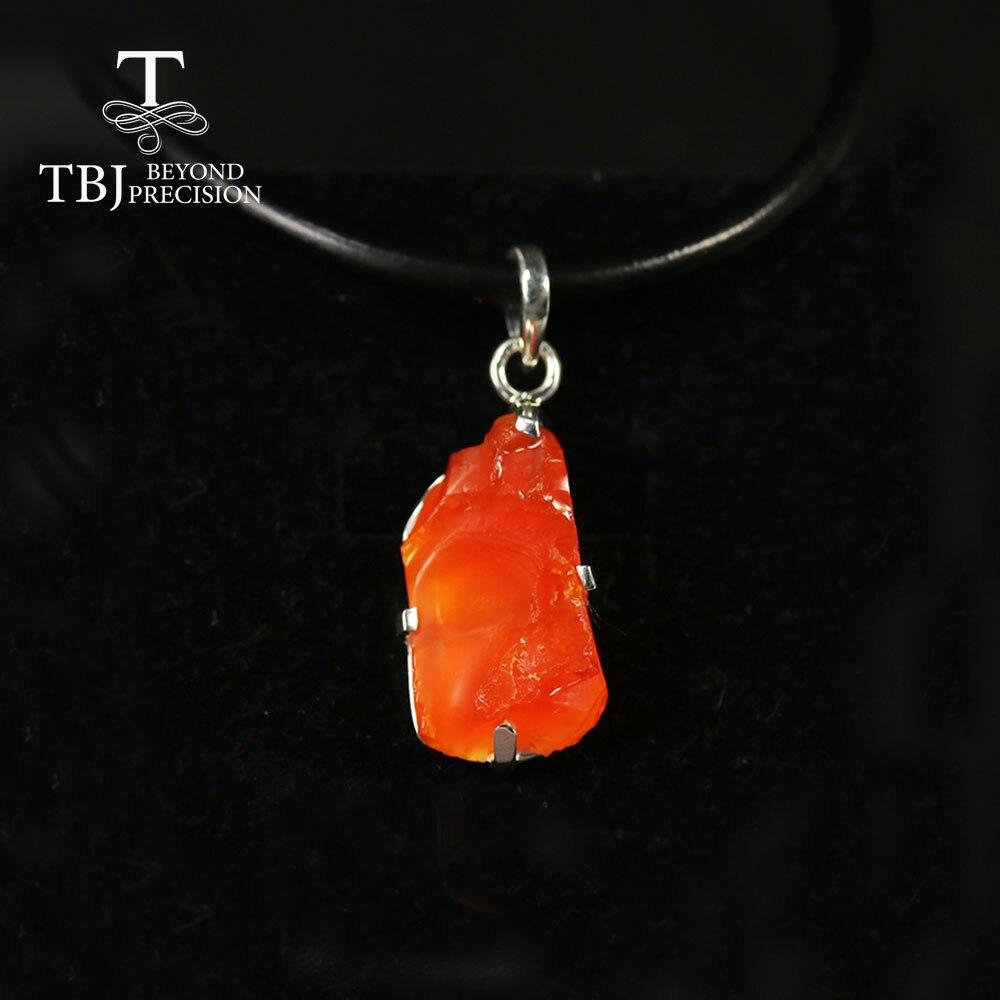 2020 Natuurlijke Vuur Opaal Hanger Handgemaakte Gemstone Fine Jewelry 925 Sterling Zilveren Lederen Akkoord Ketting Voor Vrouwen Best Gift