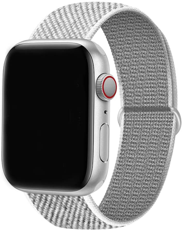 38mm/40mm/42mm/44mm, breathable and soft nylon wristband replacement compatible with iWatch series 1/2/ 3/4/ 5/6/ SE