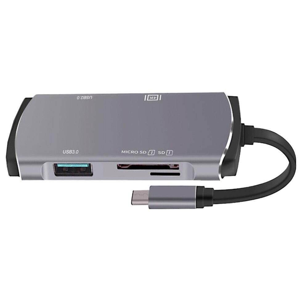 1 قطعة Type-C USB Hub متعددة الوظائف محور البيانات التوسع نقل محول العرض