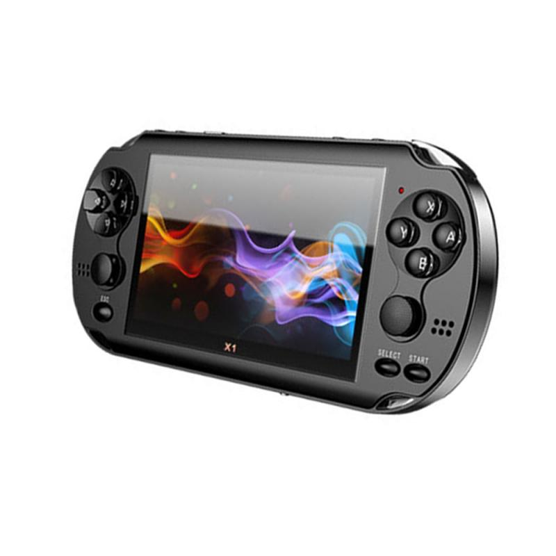 X1 4.3-inch Game Console Nostalgic Classic Dual-Shake Game Console 8G Built-in 10,000 Games 5.1 Stereo Sound Support TV-OUT enlarge