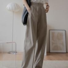 Suit Wide Leg Pants Women's High Waist Feeling 2021 New Small Man Loose High Waist Casual Pants Tren