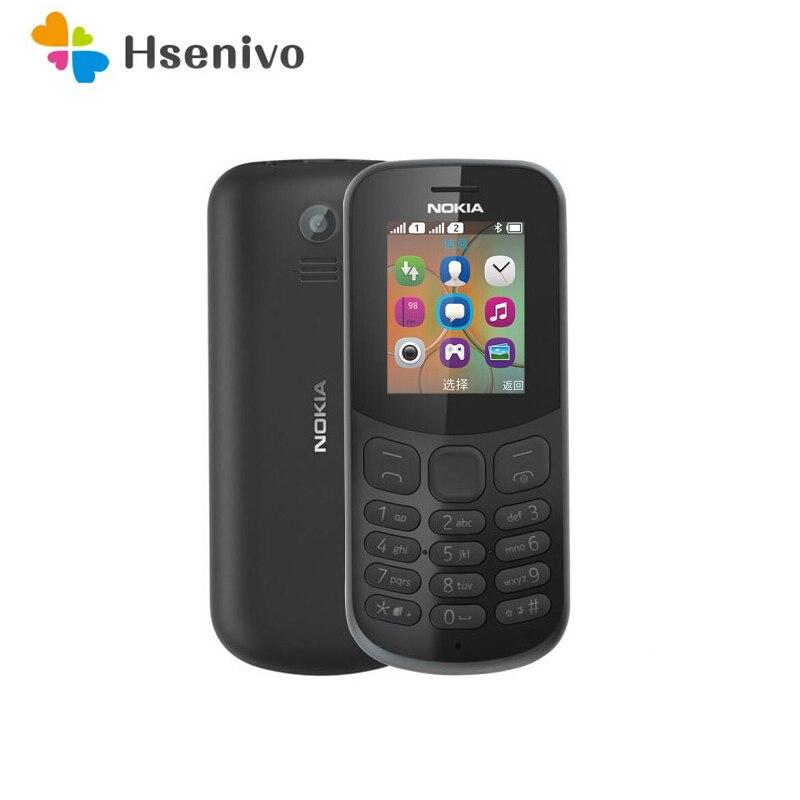 Перейти на Алиэкспресс и купить Восстановленный Nokia 130 (2017)-оригинальный Восстановленный Nokia 106 (2018)-Оригинальный разблокированный телефон Nokia 106 с двумя отремонтированными к...