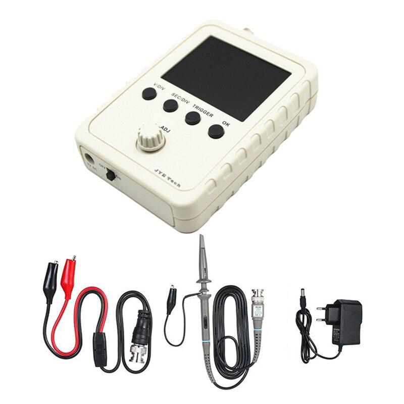 Kit de osciloscopio Digital TFT DIY de 2,4 pulgadas con adaptador de corriente y Cable BNC-Clip, sonda DS0150 (Enchufe europeo)