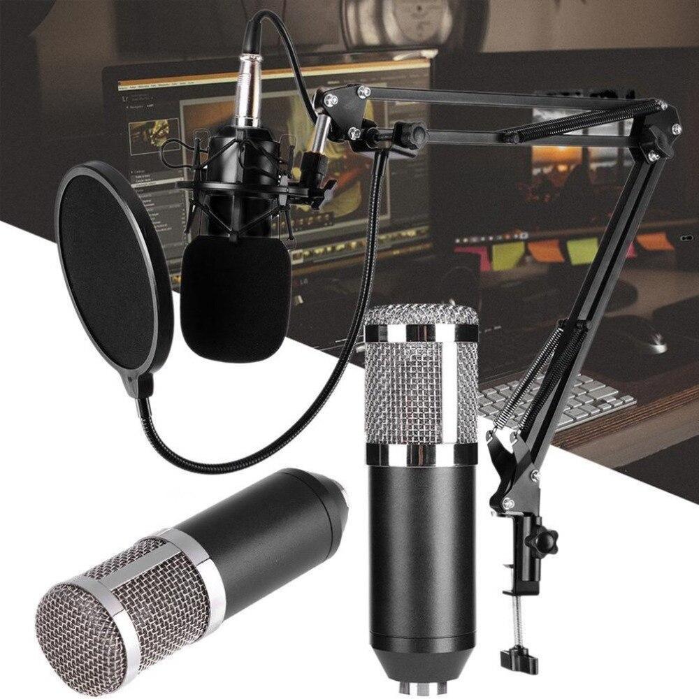 Dinâmico Microfone Condensador Sound Studio De Gravação De Áudio Mic com Choque Monte para a Radiodifusão KTV Cantando BM800 Transporte da gota