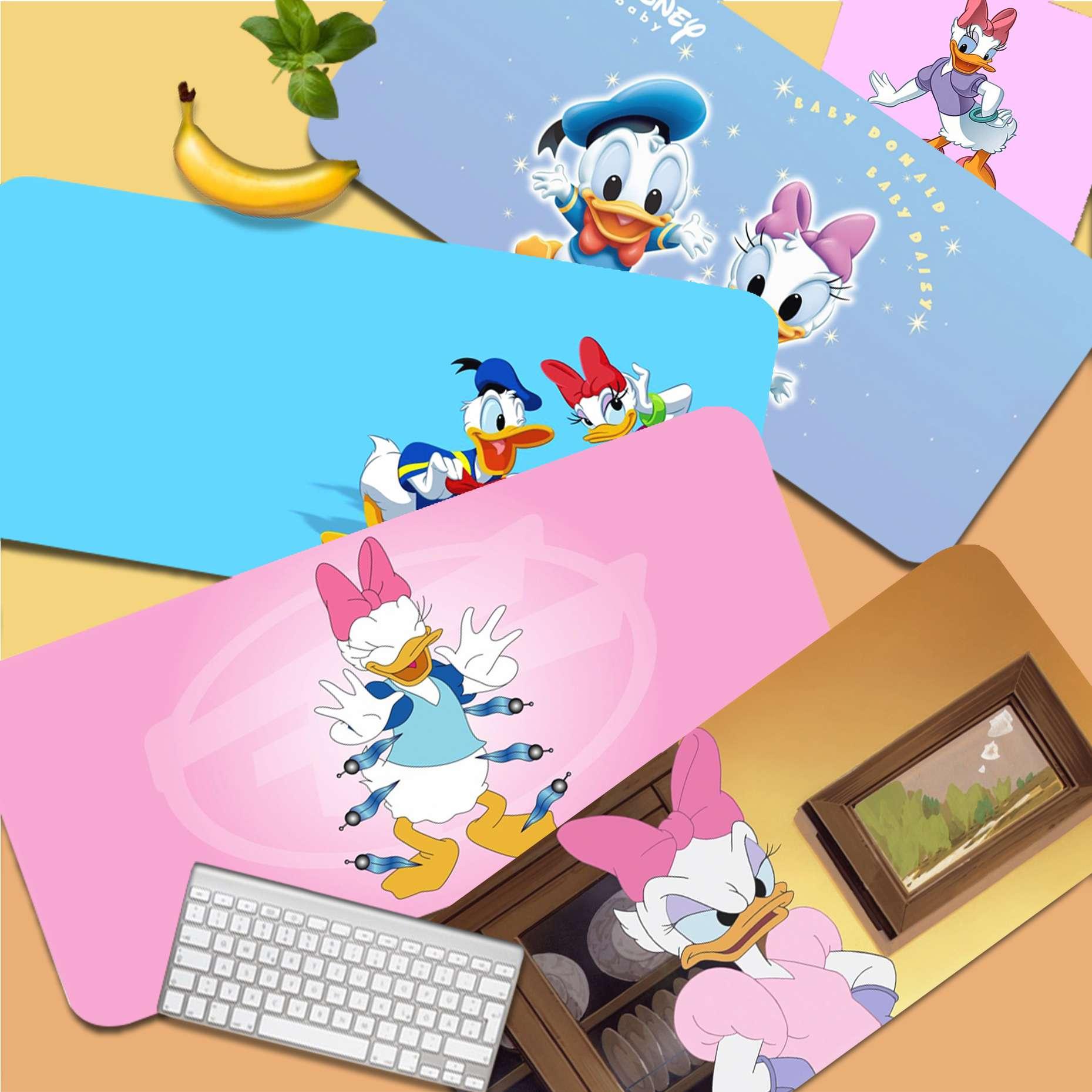 Disney Daisy Duck Cute Unique Desktop Pad Game Mousepad Size for Desk Mat for CSGO Game Player Desktop PC Computer Laptop