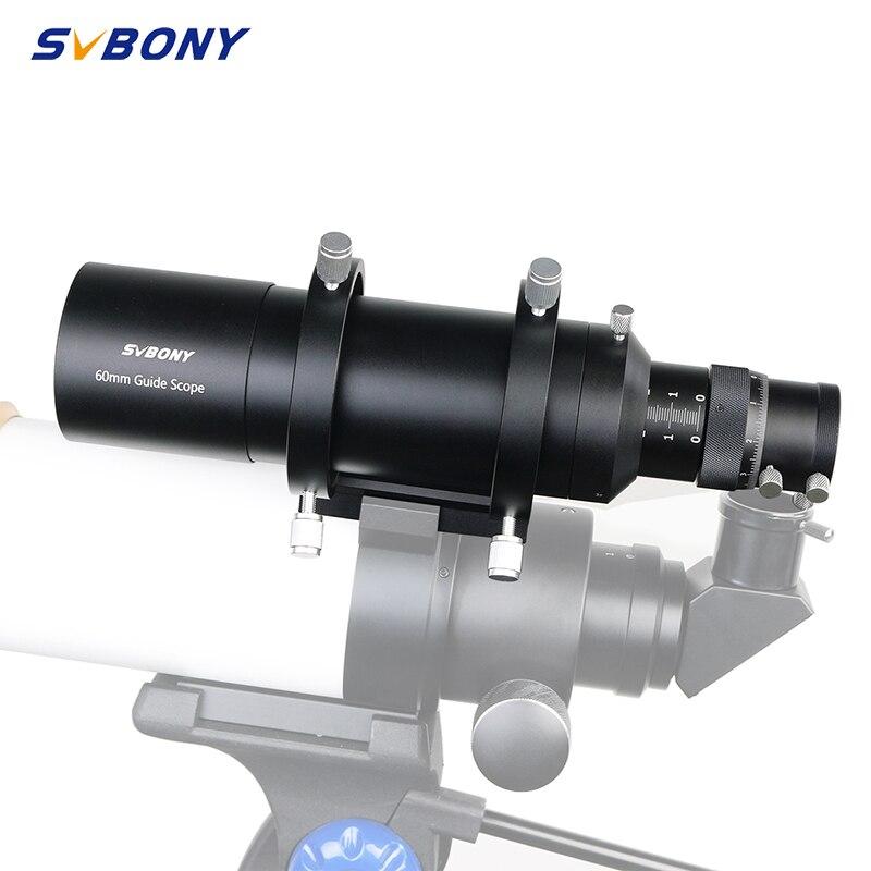 "SVBONY 60mm Compact Deluxe Guide Scope finderscopio w/1,25 ""doble foco helicoidal para Monocular Astronomy Telescope F9177B"