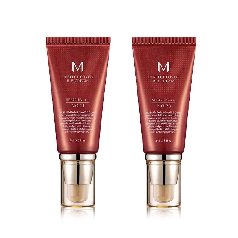 MISSHA M Perfect Cover BB Cream SPF42/PA    50ml #21  #23  #27 CC Cream Concealer Foundation Moisturizing Whitening Makeup