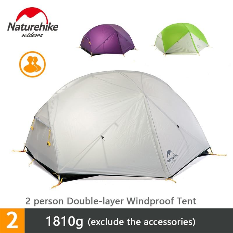 Naturehike Mongar 2 Person Outdoor Camping Reise Strand Zelt Doppel-schicht Wasserdichte 3 Saison Zelt