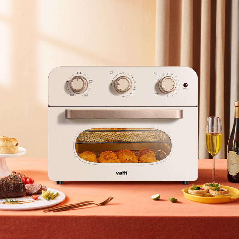 JRM0288 Vatti أحدث مقلاة الهواء المنزلية 23L فرن كهربائي كبير متعدد الوظائف الخبز قدرة الطبخ صانع الفولاذ المقاوم للصدأ
