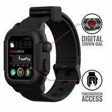 Custodia impermeabile + cinturino per cinturino Apple Watch 44mm 40mm iWatch 42mm copertura protettiva completa luminosa + bracciale Apple watch 5 4 3 SE 6