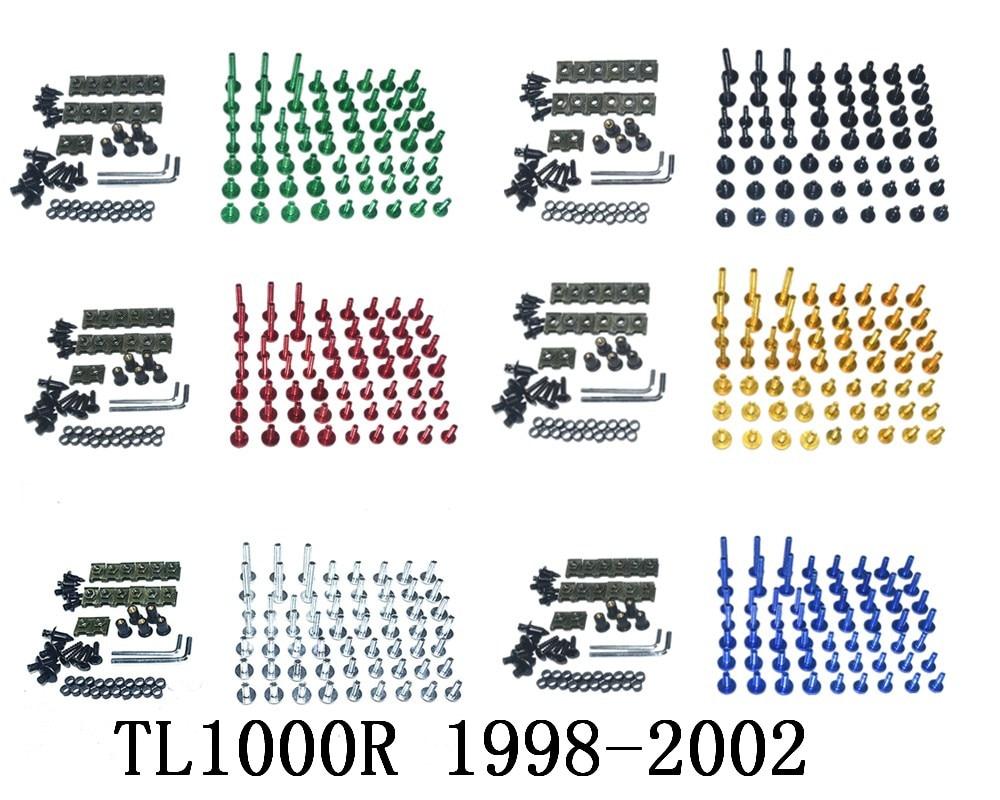 CNC полный обтекатель болты для кузовных работ гайки комплект для Suzuki TL1000R 1998-2002