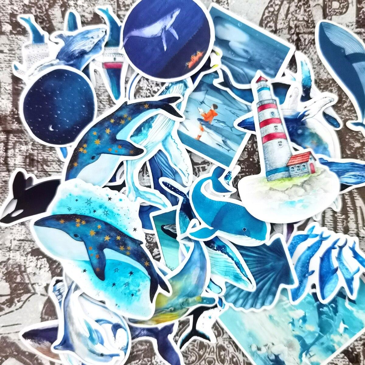 pegatinas-de-ballena-azul-para-planificador-calcomania-de-delfin-kawaii-de-pegamento-seco-bricolaje-28-uds