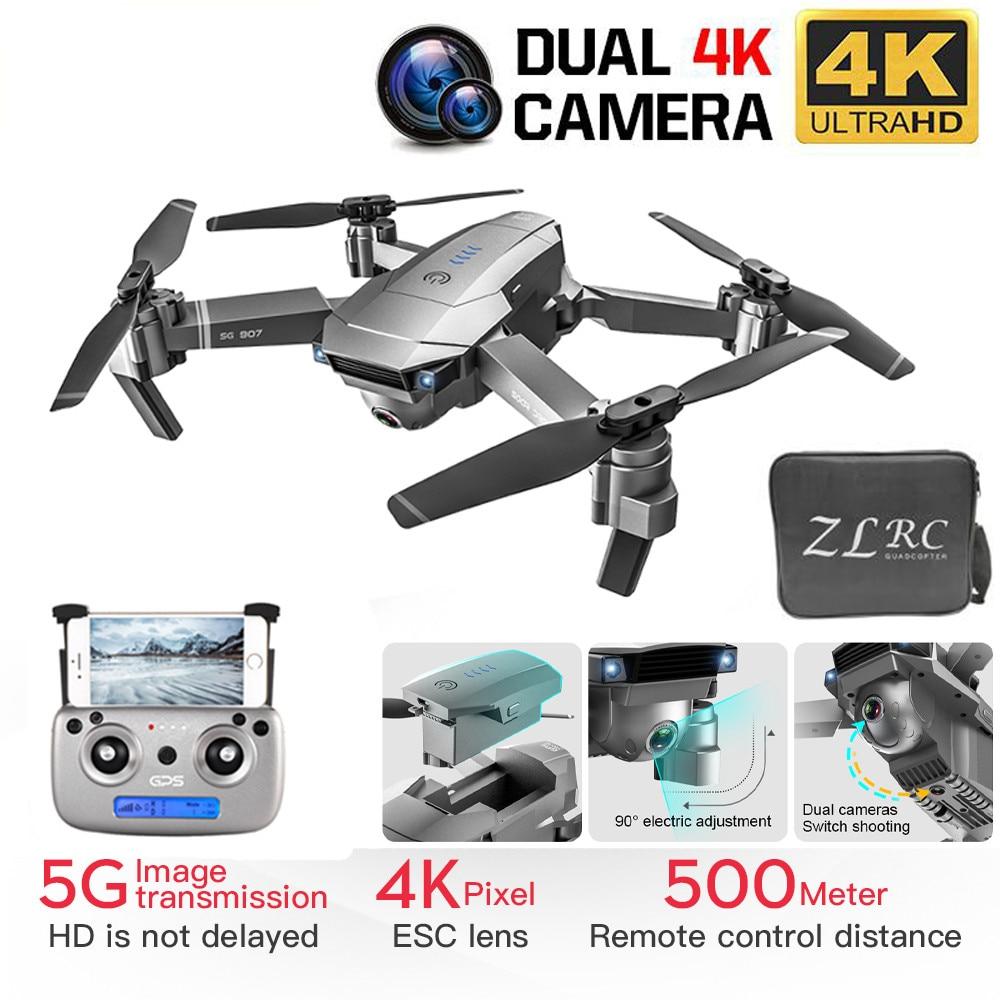 Nuevo Dron cuadricóptero GPS con cámara Dual de HD 4K gran angular Anti-vibración WIFI FPV RC Drones plegables GPS profesional sígueme