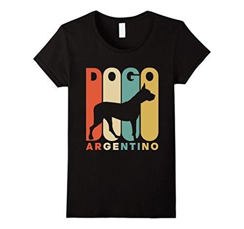 Camiseta de silueta de Dogo Argentino de estilo Vintage, camiseta de mujer con estampado, venta Punk, la última camiseta de mujer, imágenes interesantes