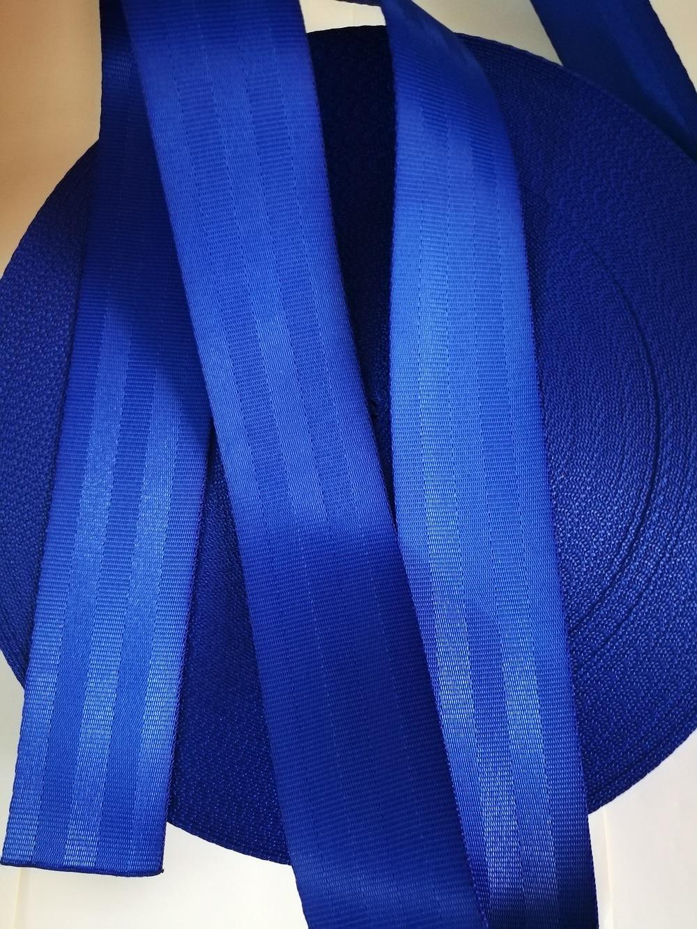 Blue 3M-30M car modified seat belt webbing 3C standard certified child safety belt car accessories