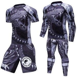 MMA Boxing Suit jogging Suits Jerseys Sport Set T-shirt Compression Men Gym Pants Mens Fitness workout Tights clothes Clothing
