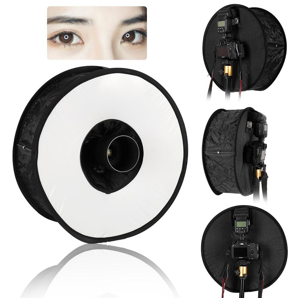 Anel de Luz do Flash Difusor de Luz Softbox Velocidadelight Rodada Estilo Tiro Suave Caixa Dobrável Flash 45cm