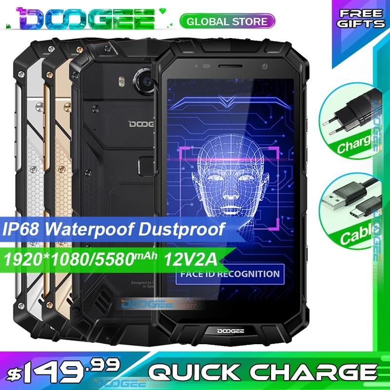 Fast shipping DOOGEE S60 LITE IP68 Waterpoof Dustproof Wireless Mobile phone 5580mAh 4GB 32GB NFC Smartphone