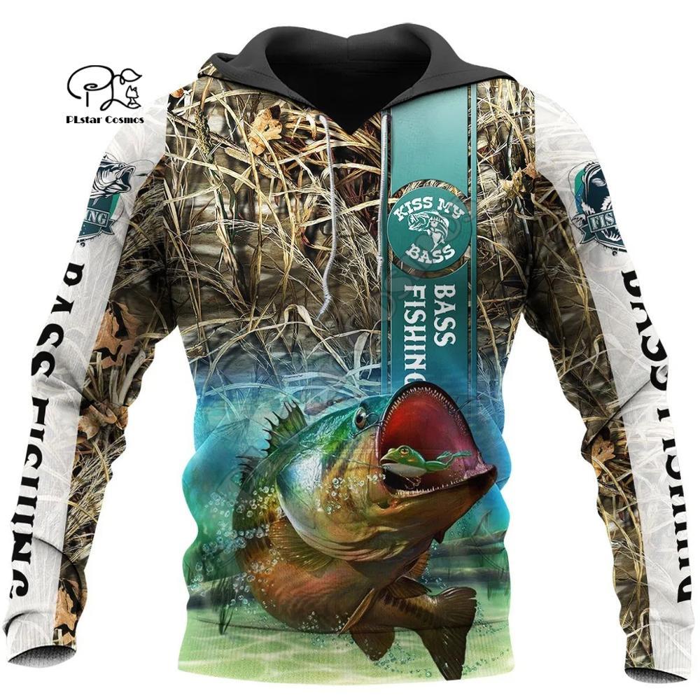 PLstar Cosmos Animal Bass Carp, nueva moda de pesca Fisher, chándal, jersey con estampado 3Dprint Unisex con cremallera/sudaderas/chaqueta S14
