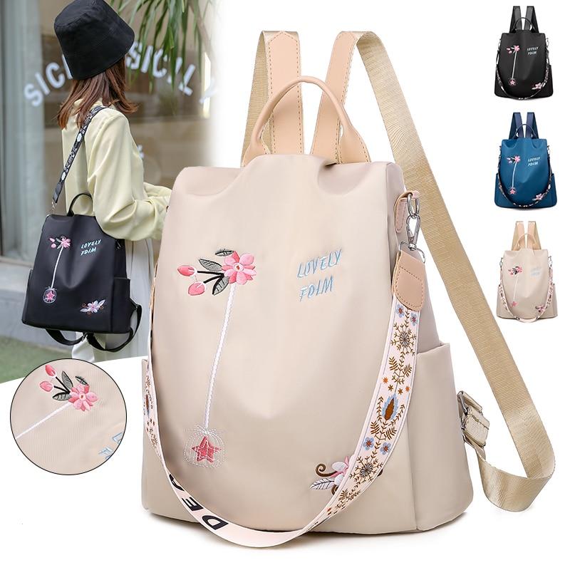 2021 مقاوم للماء أكسفورد المرأة على ظهره موضة مكافحة سرقة المرأة حقائب الظهر طباعة حقيبة مدرسية عالية الجودة حقيبة ظهر بسعة كبيرة